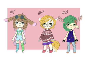 {CLOSED} Adoptables (Kemonomimi 01) by modernvamps