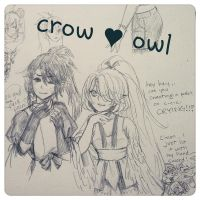 OCs -- Crow and Owl by onisuu