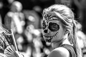 Day of the Dead makeup (b/w version) by attomanen