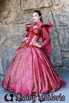 Red Queen Gown by DaisyViktoria