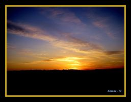Golden sunset by Emane-M