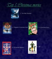 My Top 5 Christmas movies by SonicGuy15