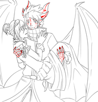 the dragon and the princess :doodle: by PeppermintBat
