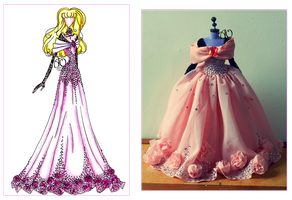 Disney Aurora's Dress by AlirizaDesign