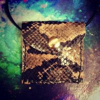 Snake Skin embossed Leather Medicine Pouch by RamsEyeSupply
