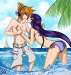 Commission: Neku and Saeko At The Beach by R-Legend