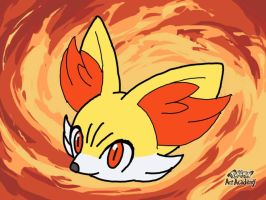 1st Fennekin (Pokemon Art Academy) by laprasking