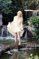Zelda: Waterfall by princess-soffel