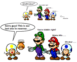 Mario: Uh oh, only 1 Left ... by JamesmanTheRegenold