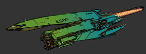 'Fuk-IN' class  corvette by Daemoria