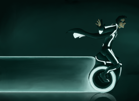 TRON: Unilight Cycle. by Kanna-Maru