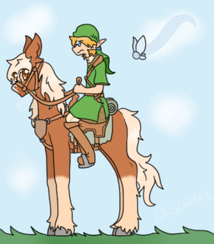 Link + Epona: The most annoying journey yet! by Samagirl