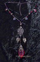 Rose Leaf and Beaded Chain-1 by MorganCrone