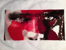 Peeta Cross Stitch - Day 8 by whatthej