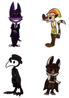 Chibis for Skittycat by alfvie
