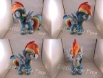 MLP Wonderbolt Rainbow Dash Plush (commission) by Little-Broy-Peep