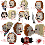 Bride of Chucky doodles by LuxBlack