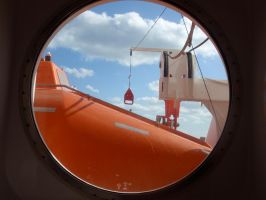 Porthole and a Lifeboat by DreamsWithinMe