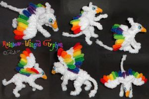 Rainbow Wing Gryphon by kalicothekat