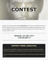 Supernatural Contest by HuntingThings-Admin