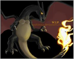 Black Charizard - WIP by Sephirona