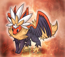 Braviary+Flareon Fusion [closed] by Skeletpengu