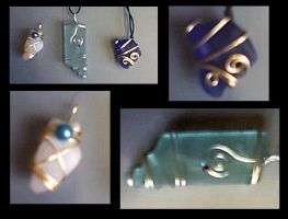 Beach glass jewelry by thecosmicfool