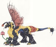 Bumble bee dragon by Nela-G