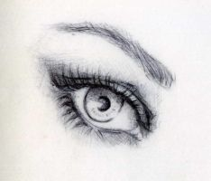 eye in pen by ZX2producciones