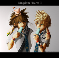 Sora and Roxas Doodles by Chadkroeger