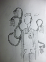 Slender Man works at Burger King...? by skyrore1999