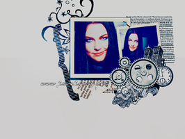 Amy Lee blue wallpaper by princesiitha