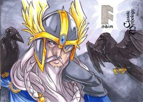 Odin Sketch Card - Kat Laurange by Pernastudios