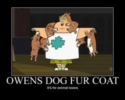 Total Drama Dog Fur Coat by AbominationOfTime