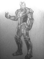 Iron Man Sketch by flubberzz