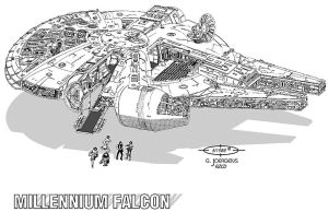 Star Wars - Millennium Falcon by Paul-Muad-Dib