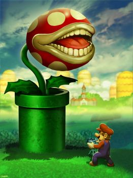 The Biting PEARnha Plant of Mushroom Kingdom by GENZOMAN
