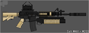 M4A1 M203 by ChineseWarri0r