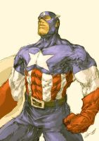 Captain America by scabrouspencil