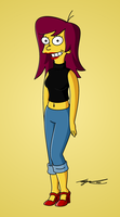 Simpsonized Belen by Cool-Hand-Mike