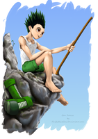 Gon Freecss by FluffyBlueCow