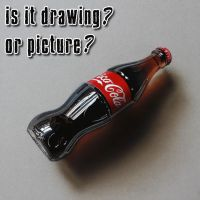 Drawing a COKE bottle by marcellobarenghi