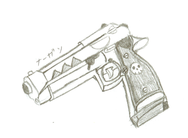 Death the Kid's Pistol scetch by Artistic-Resonance