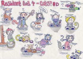Resident Evil 4 CATS by EmzieTowers