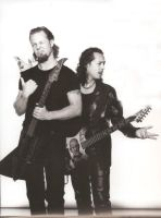 Hetfield and Hammett by zuzazua