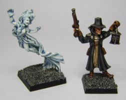 MORDHEIM Banshee and Witch Hunter by FraterSINISTER