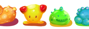 Squishies! Example rainbow lineup by oddsocket