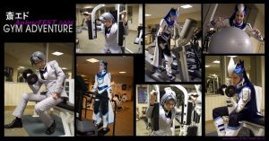 Saiou + Edo at the Gym cosplay by jacemoore