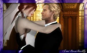 The Angel and The God (Wedding photo 4) by IamRinoaHeartilly