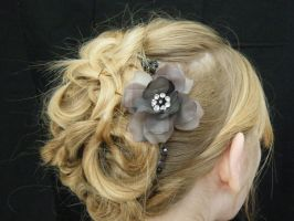 curly updo by SavageFaces